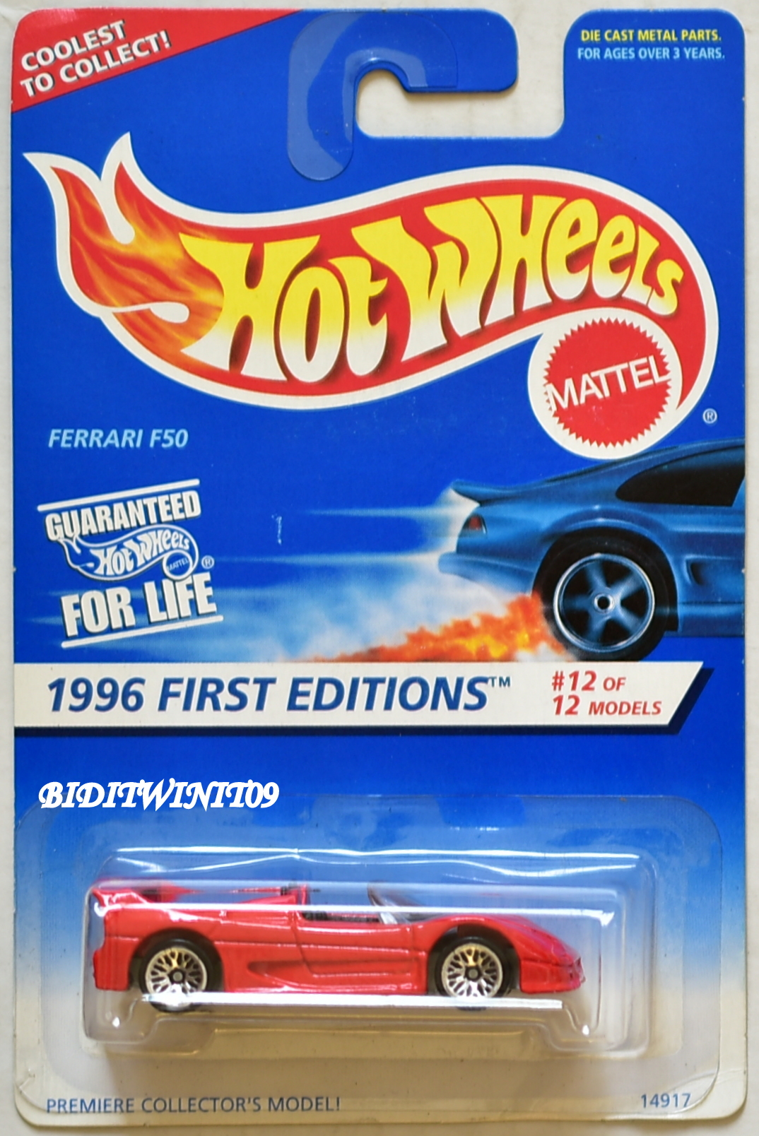 HOT WHEELS 1996 FIRST EDITIONS FERRARI F50 #12/12 RED