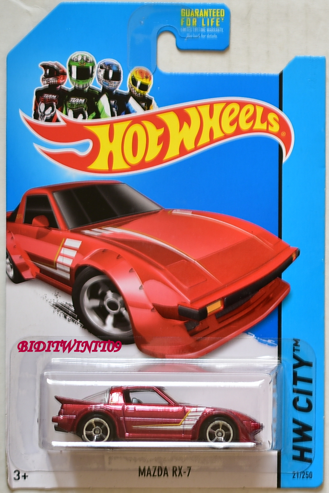 HOT WHEELS 2014 HW CITY - NIGHT BURNERZ MAZDA RX-7