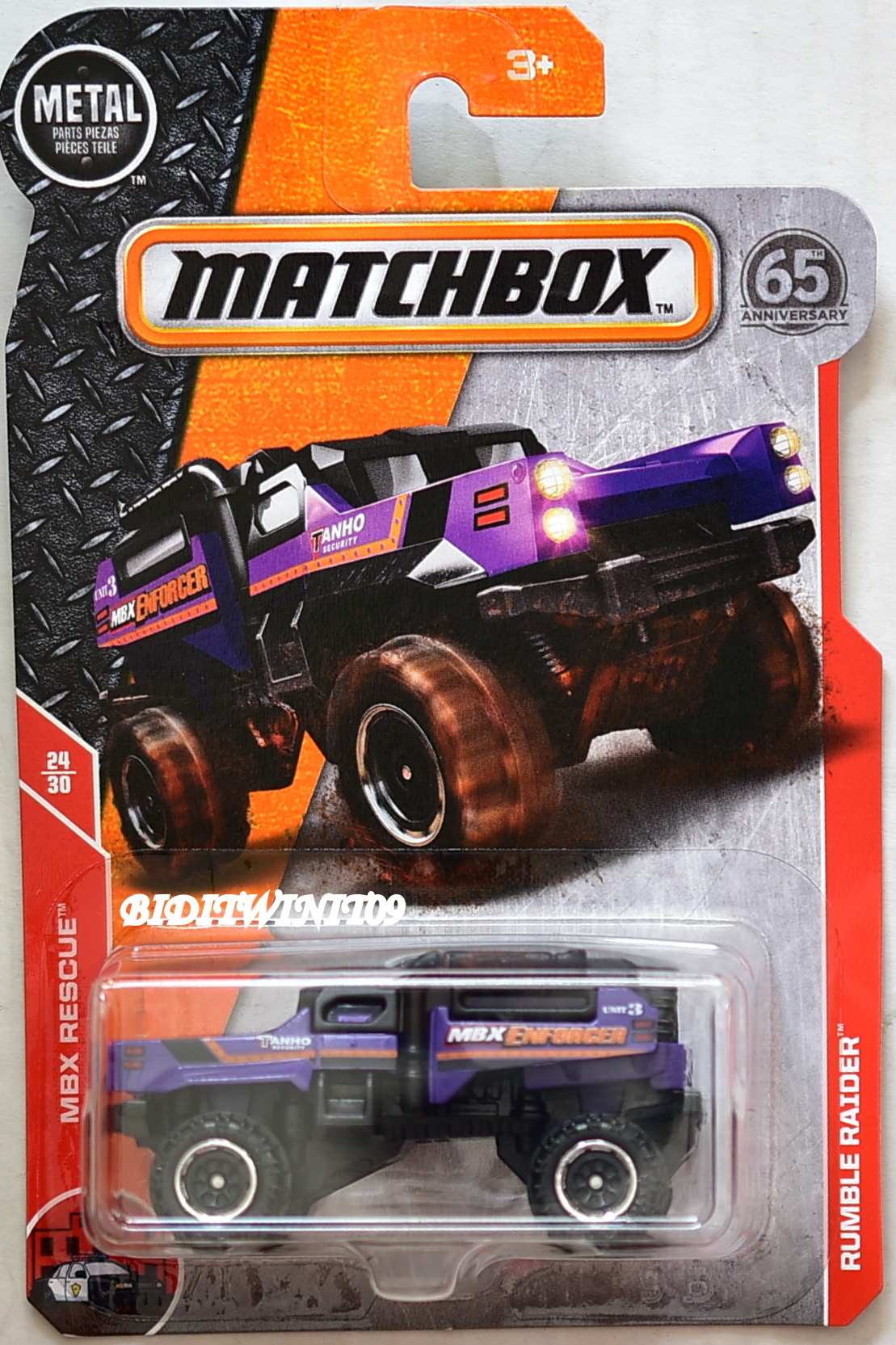 matchbox 2018 mbx rescue rumble raider purple  0009166