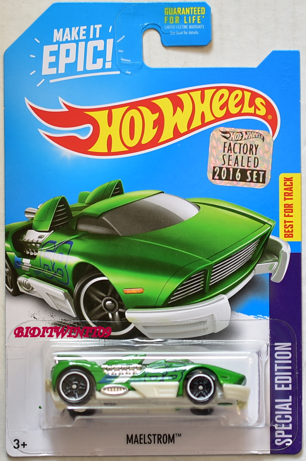 HOT WHEELS 2016 SPECIAL EDITION MAELSTROM GREEN FACTORY SEALED