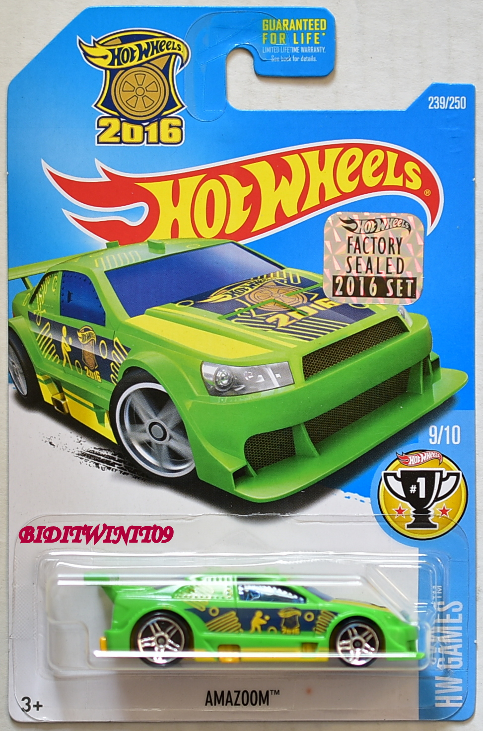 HOT WHEELS 2016 HW GAMES AMAZOOM FACTORY SEALED