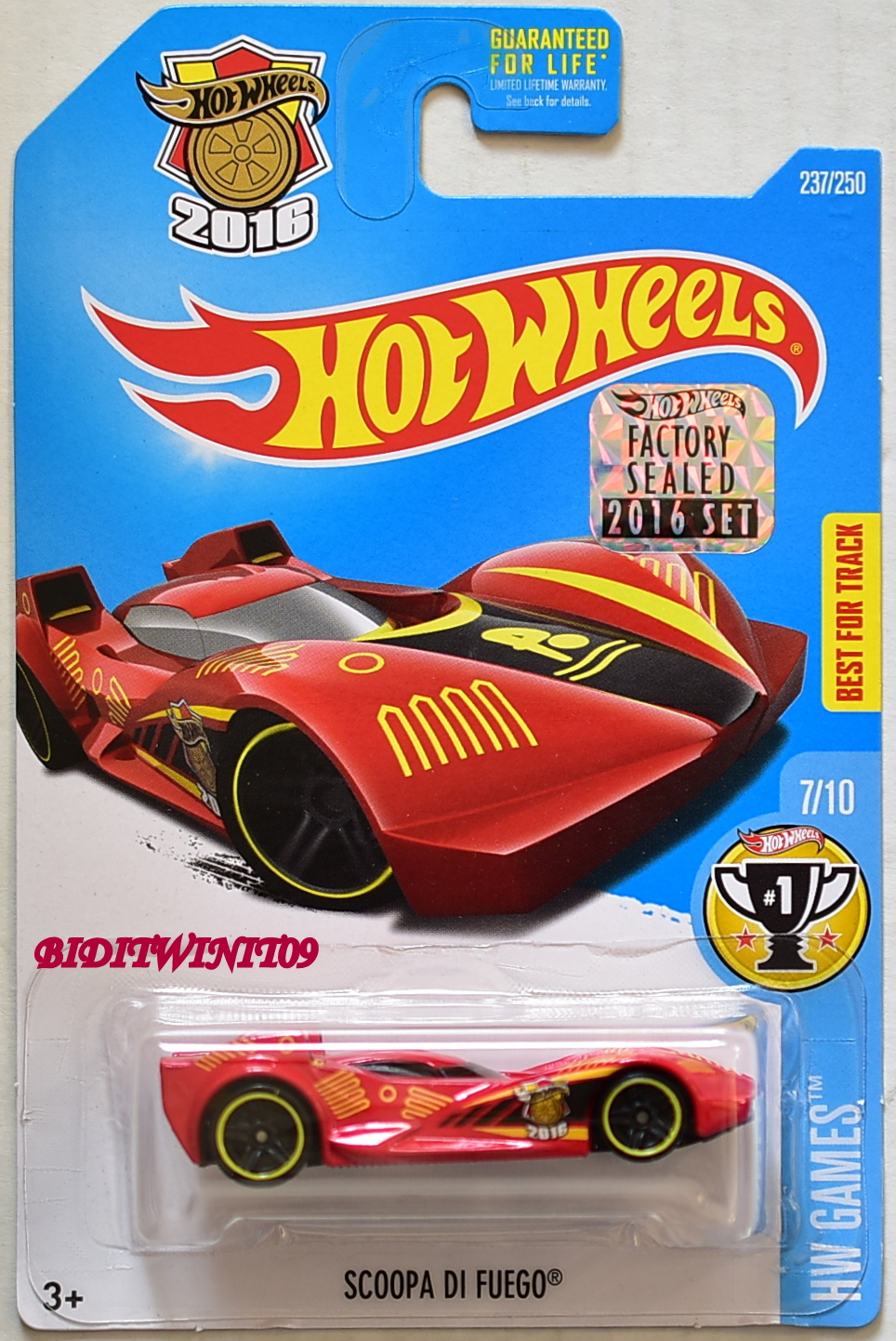 HOT WHEELS 2016 HW GAMES SCOOPA DI FUEGO RED FACTORY SEALED