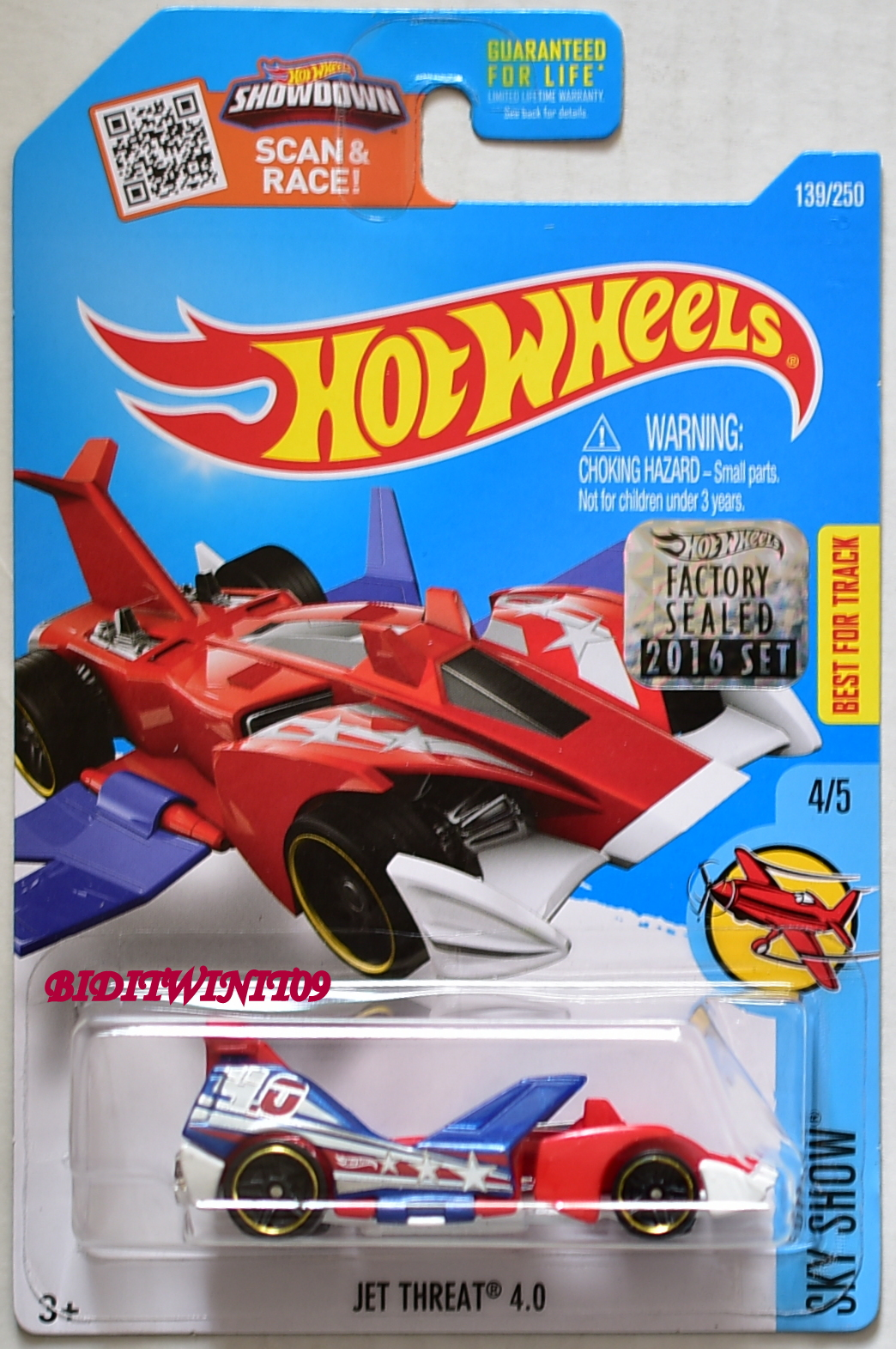 HOT WHEELS 2016 SKY SHOW JET THREAT 4.0 #4/5 FACTORY SEALED