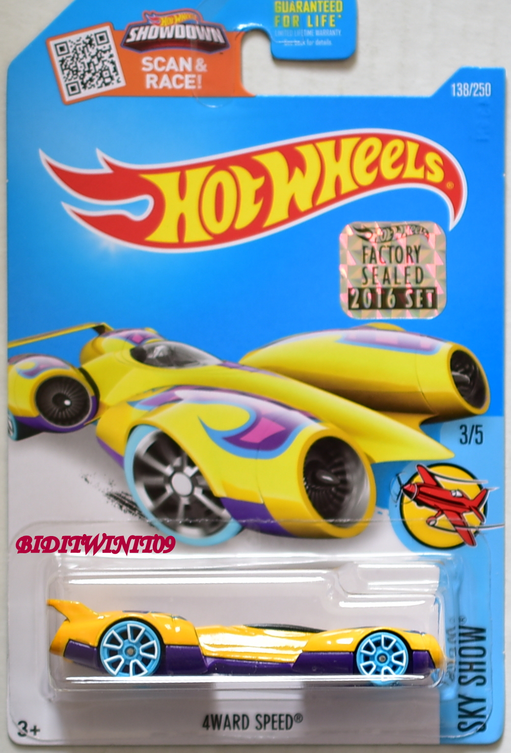 HOT WHEELS 2016 SKY SHOW 4WARD SPEED #3/5 FACTORY SEALED