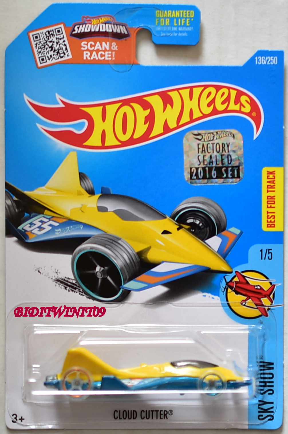 HOT WHEELS 2016 SKY SHOW CLOUD CUTTER FACTORY SEALED