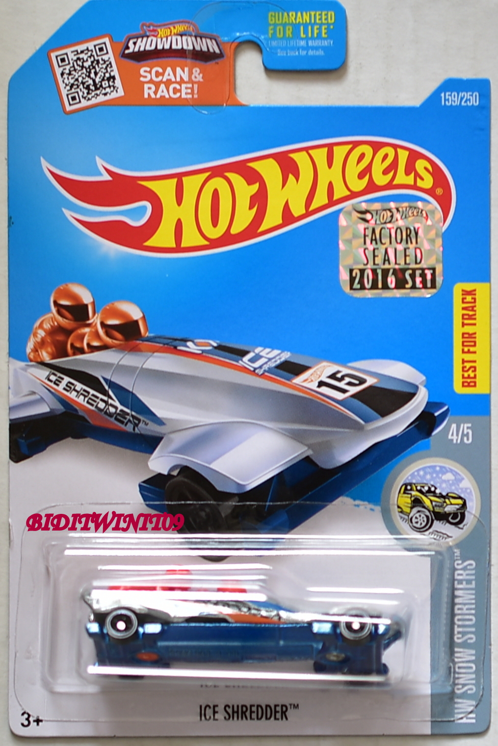 HOT WHEELS 2016 HW SNOW STORMERS ICE SHREDDER FACTORY SEALED