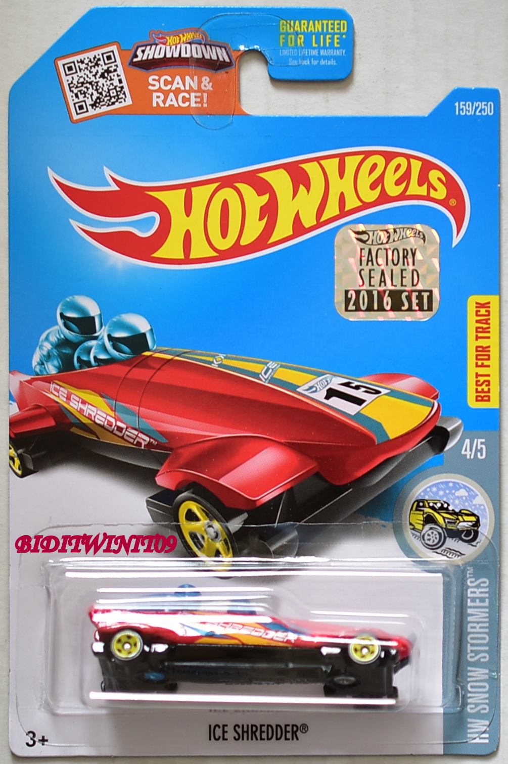 HOT WHEELS 2016 HW SNOW STORMERS ICE SHREDDER RED FACTORY SEALED