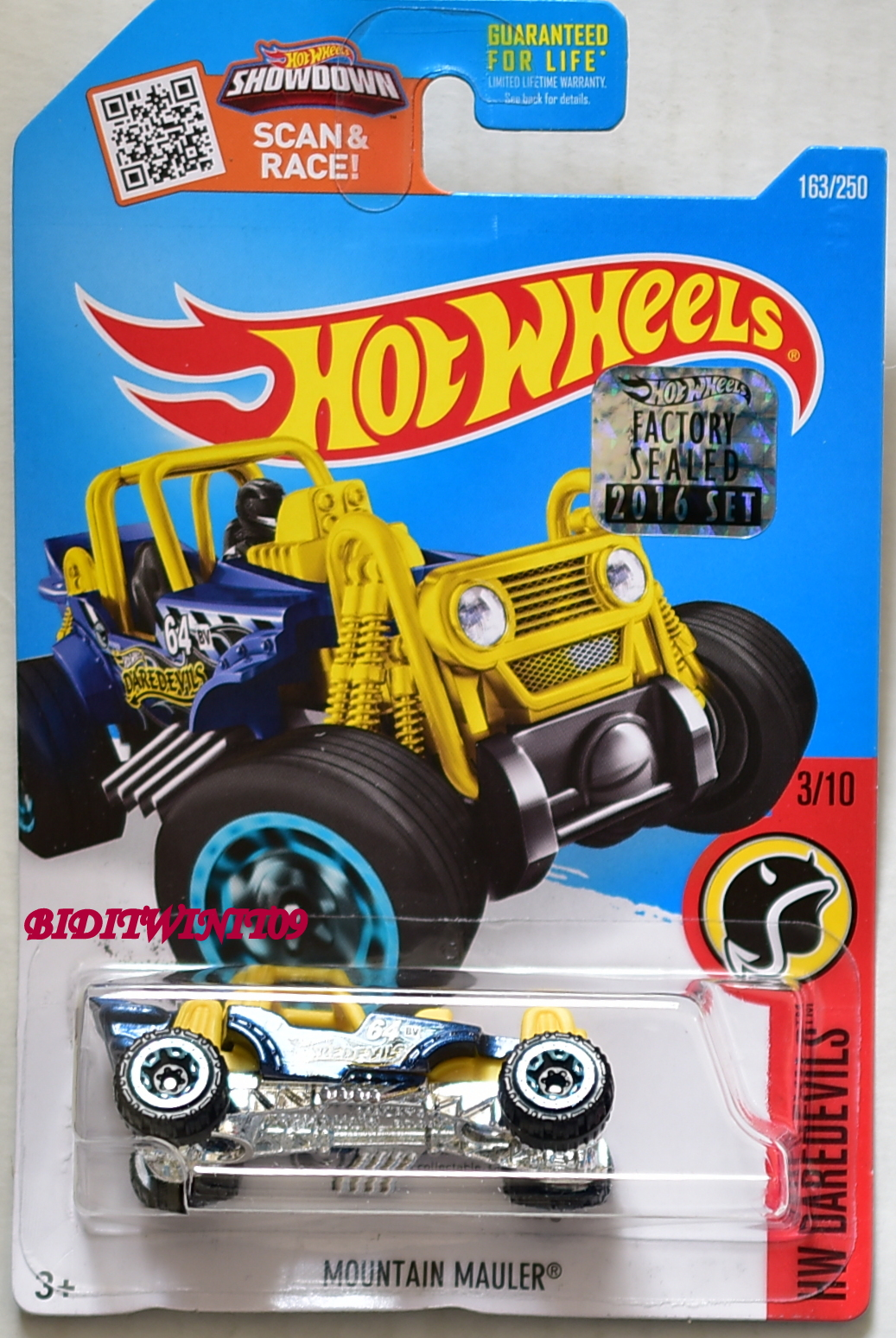HOT WHEELS 2016 HW DAREDEVILS MOUNTAIN MOULER FACTORY SEALED