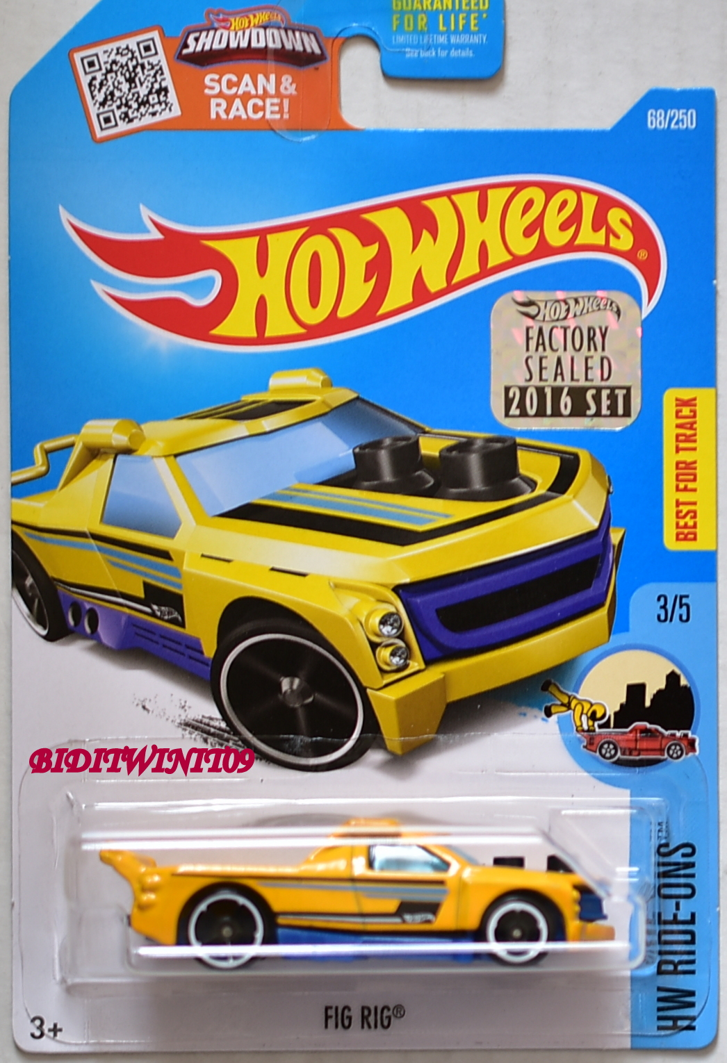 HOT WHEELS 2016 HW RIDE-ONS FIG RIG #3/5 YELLOW FACTORY SEALED