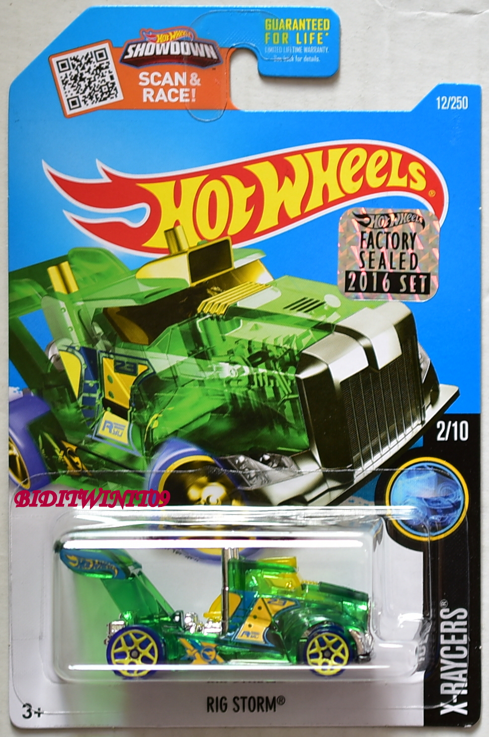 HOT WHEELS 2016 X-RAYCERS RIG STORM GREEN FACTORY SEALED