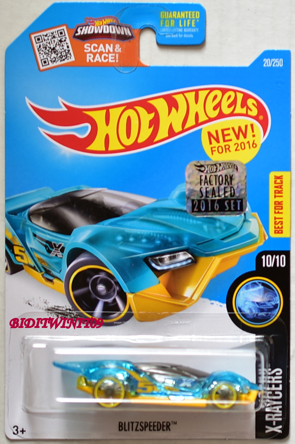 HOT WHEELS 2016 X-RAYCERS BLITZSPEEDER BLUE FACTORY SEALED