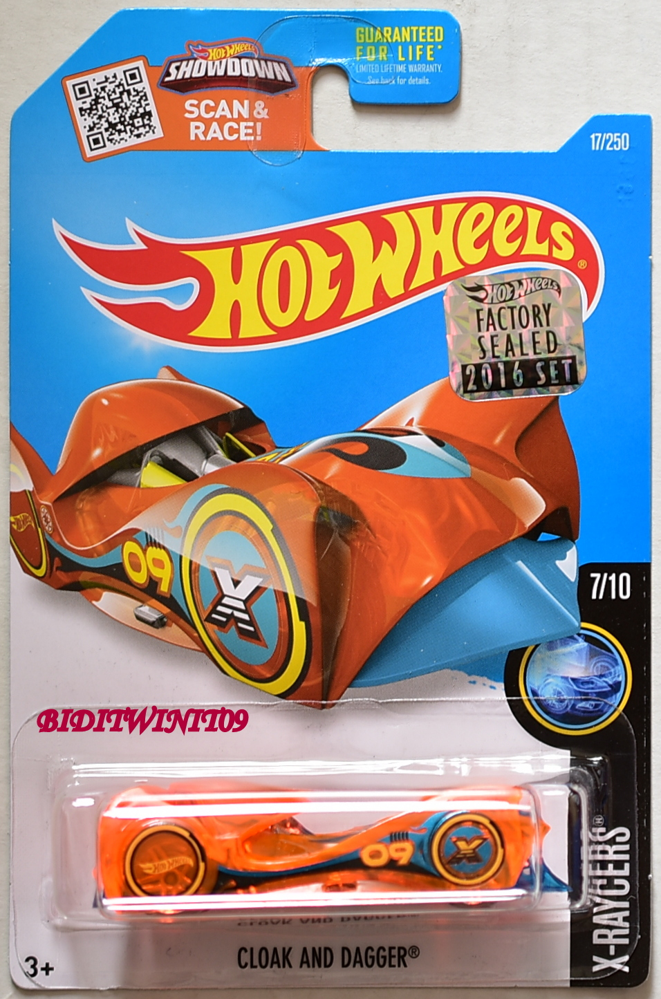 HOT WHEELS 2016 X-RAYCERS CLOAK AND DAGGER #7/10 FACTORY SEALED
