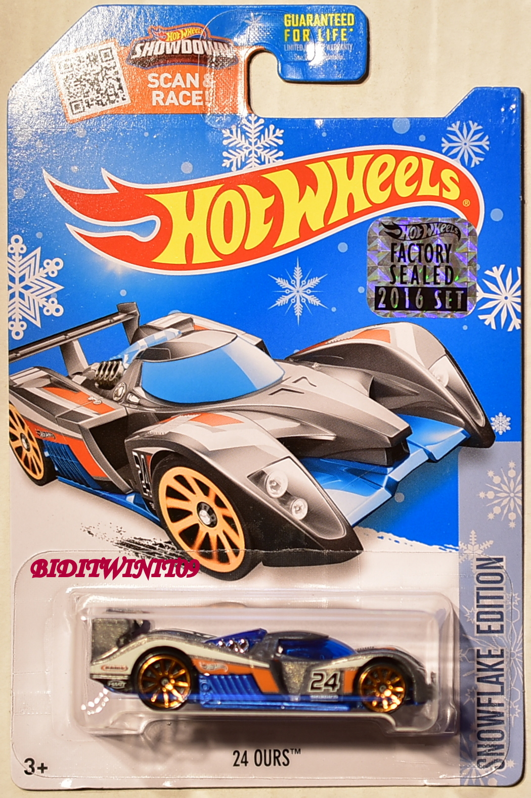 HOT WHEELS 2016 SNOWFLAKE EDITION 24 OURS TARGET EXCLUSIVE FACTORY SEALED
