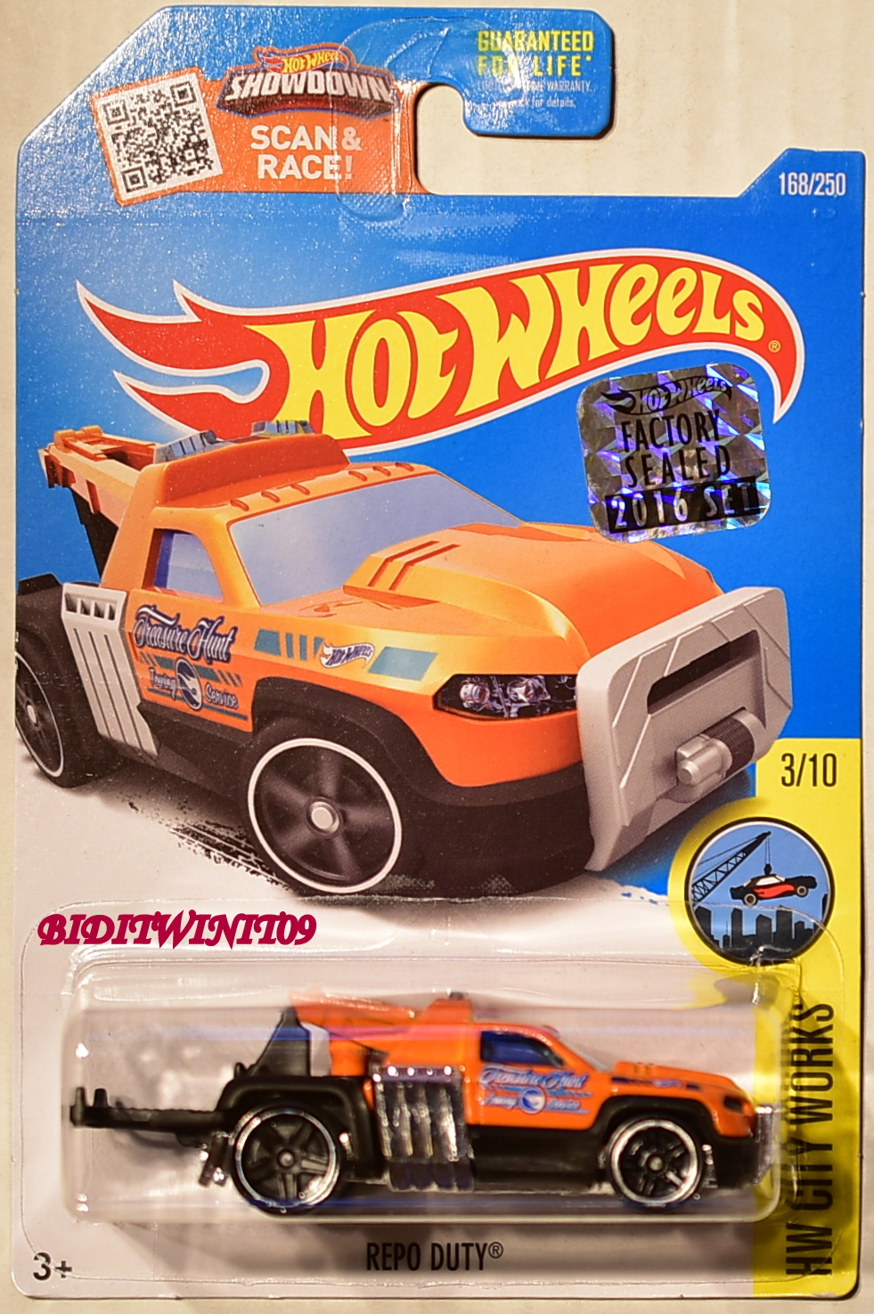 HOT WHEELS 2016 HW CITY WORKS REPO DUTY #3/10 ORANGE FACTORY SEALED