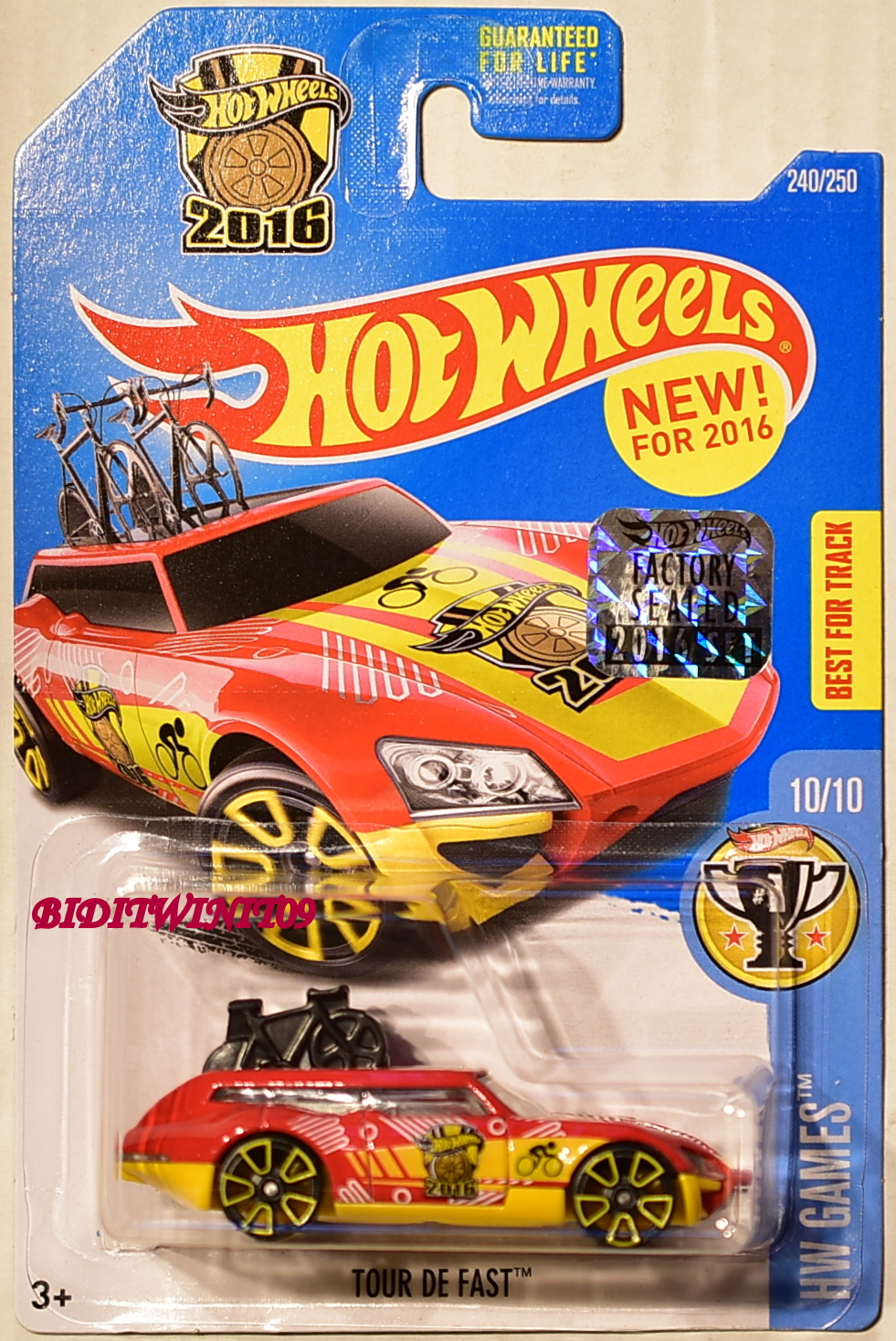 HOT WHEELS 2016 HW GAMES TOUR DE FAST RED FACTORY SEALED