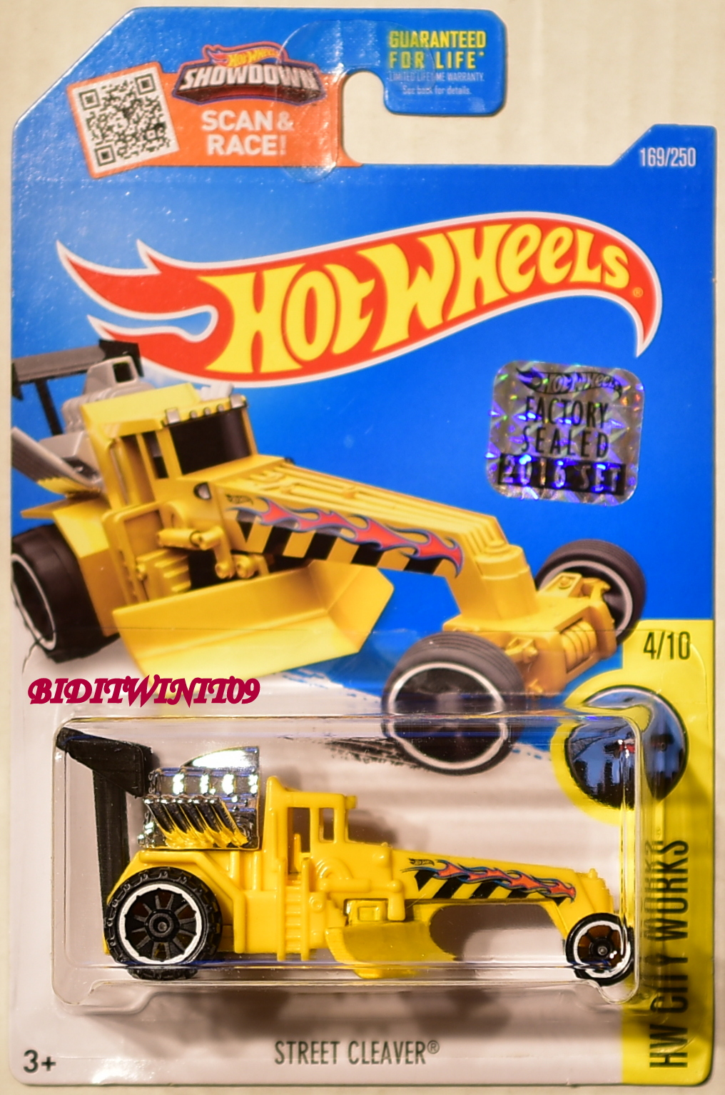 HOT WHEELS 2016 HW CITY WORKS STREET CLEAVER #4/10 YELLOW FACTORY SEALED