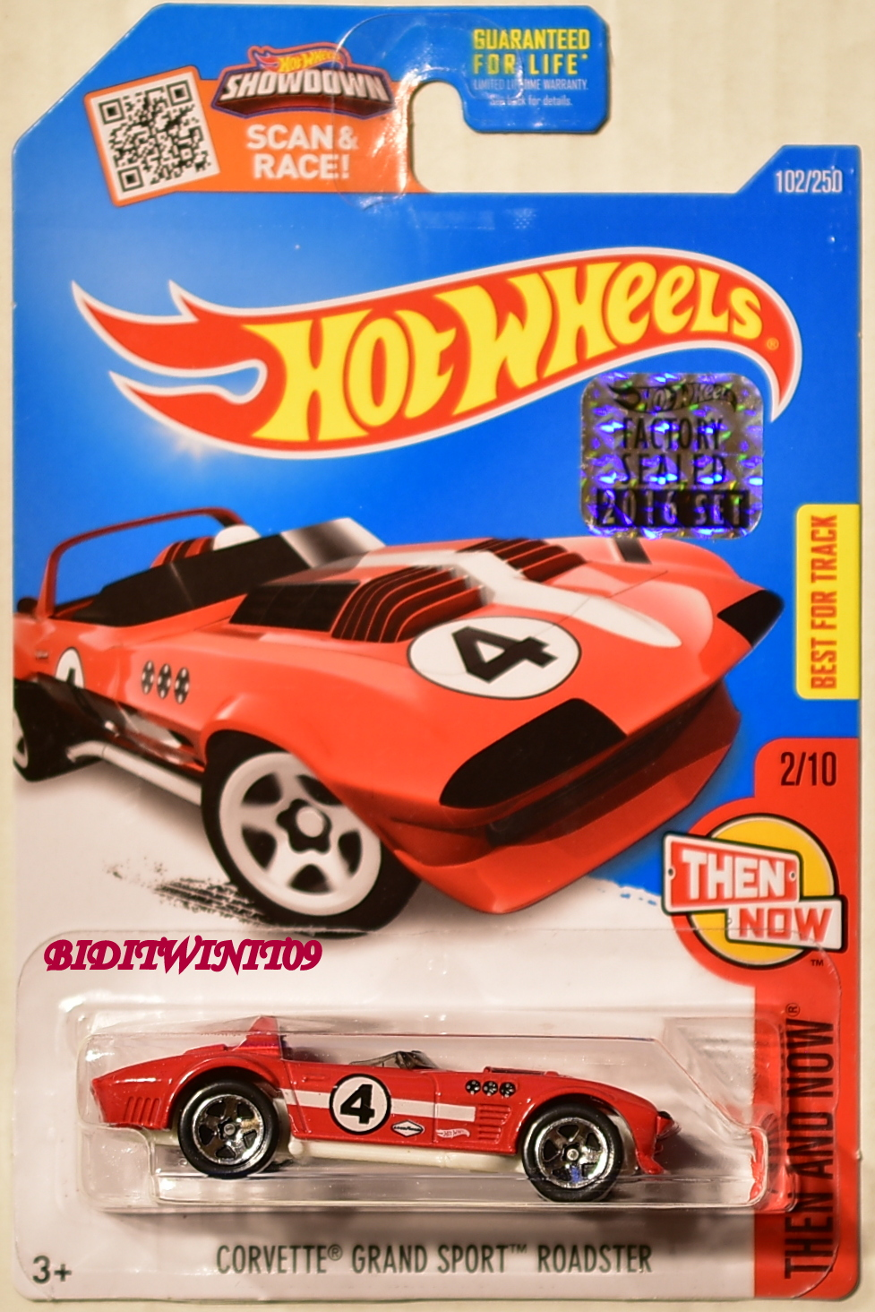 HOT WHEELS 2016 THEN AND NOW CORVETTE GRAND SPORT ROADSTER RED FACTORY SEALED