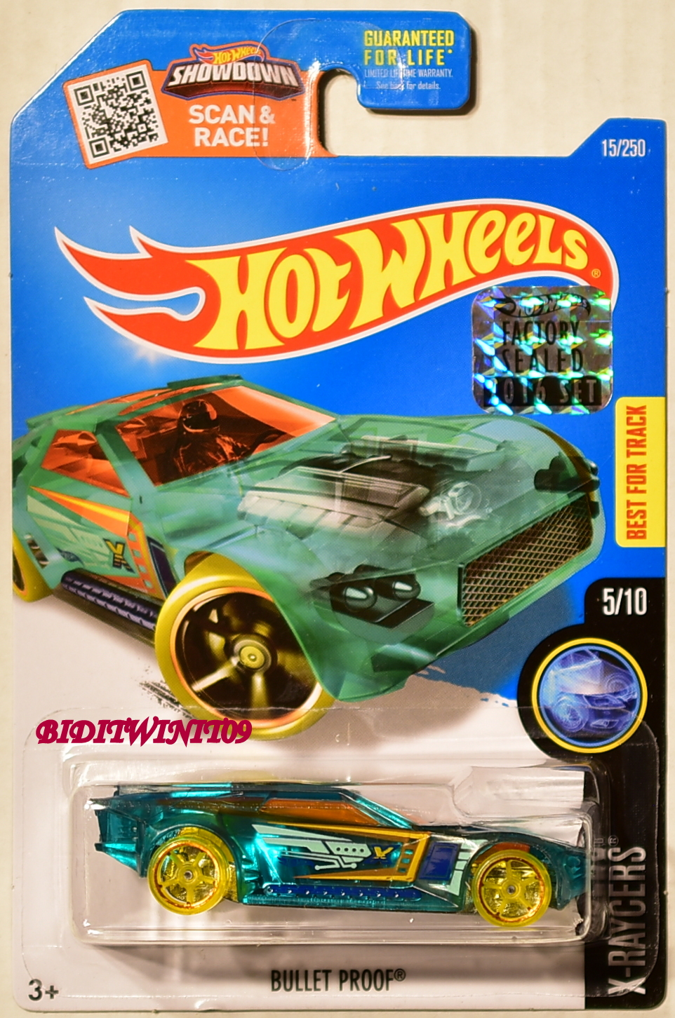 HOT WHEELS 2016 X-RAYCERS BULLET PROOF #5/10 FACTORY SEALED