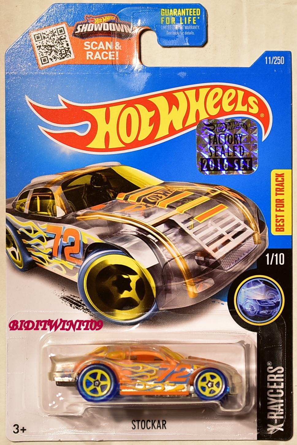 HOT WHEELS 2016 X-RAYCERS STOCKAR #1/10 FACTORY SEALED