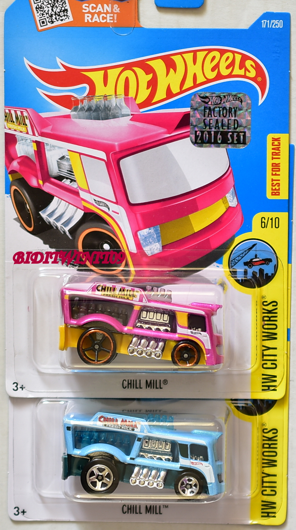 HOT WHEELS 2016 HW CITY WORKS CHILL MILL VARIATION FACTORY SEALED E+