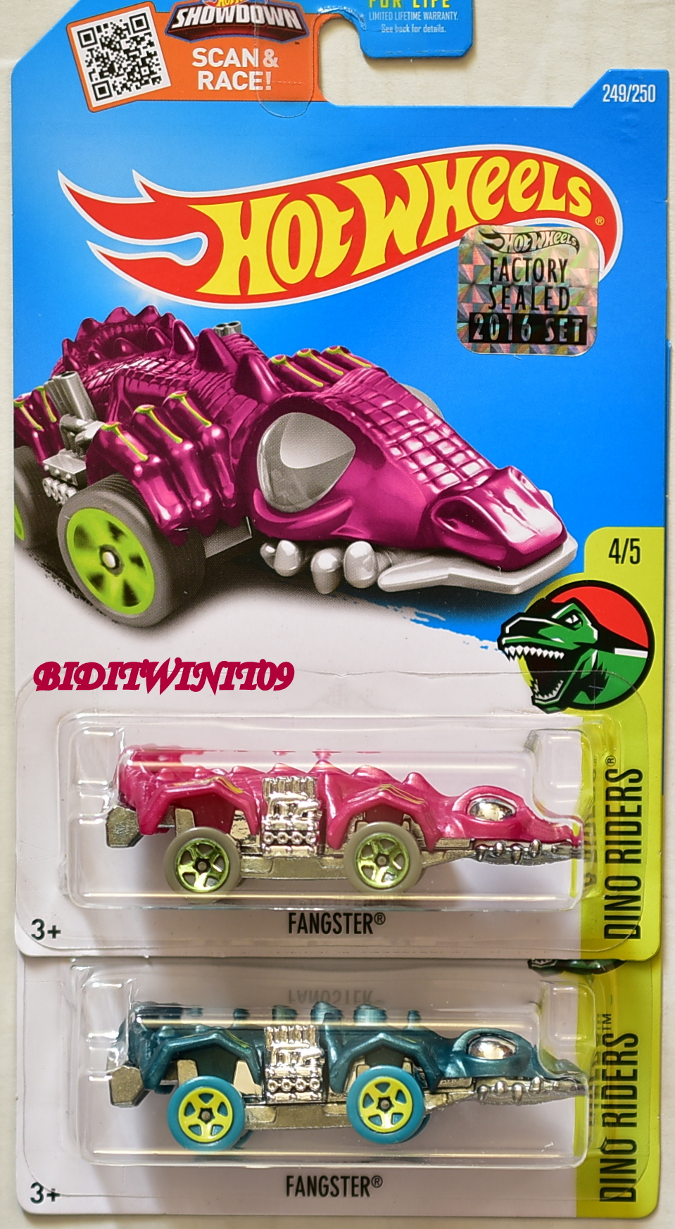 HOT WHEELS 2016 DINO RIDERS FANGSTER VARIATION FACTORY SEALED