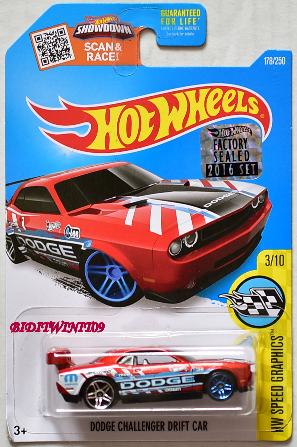 HOT WHEELS 2016 HW SPEED GRAPHICS DODGE CHALLENGER DRIFT CAR RED FACTORY SEALED