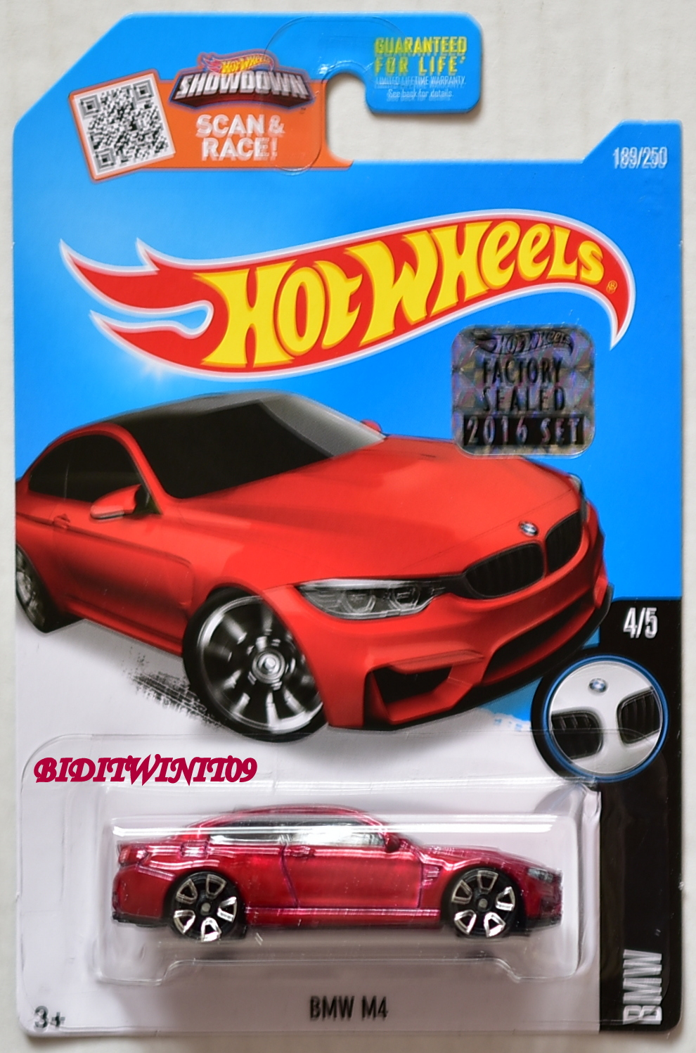 HOT WHEELS 2016 BMW M4 #4/5 RED FACTORY SEALED E+
