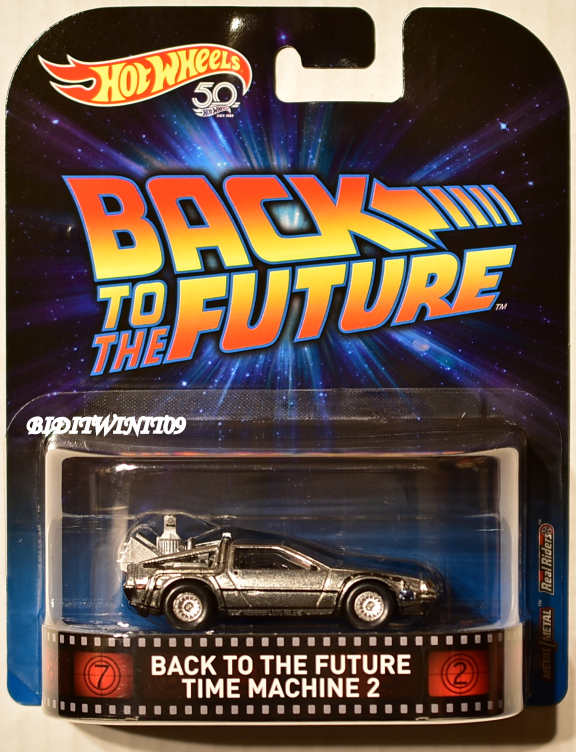 HOT WHEELS 2018 50 YEARS RETRO ENTERTAINMENT BACK TO THE FUTURE TIME MACHINE 2