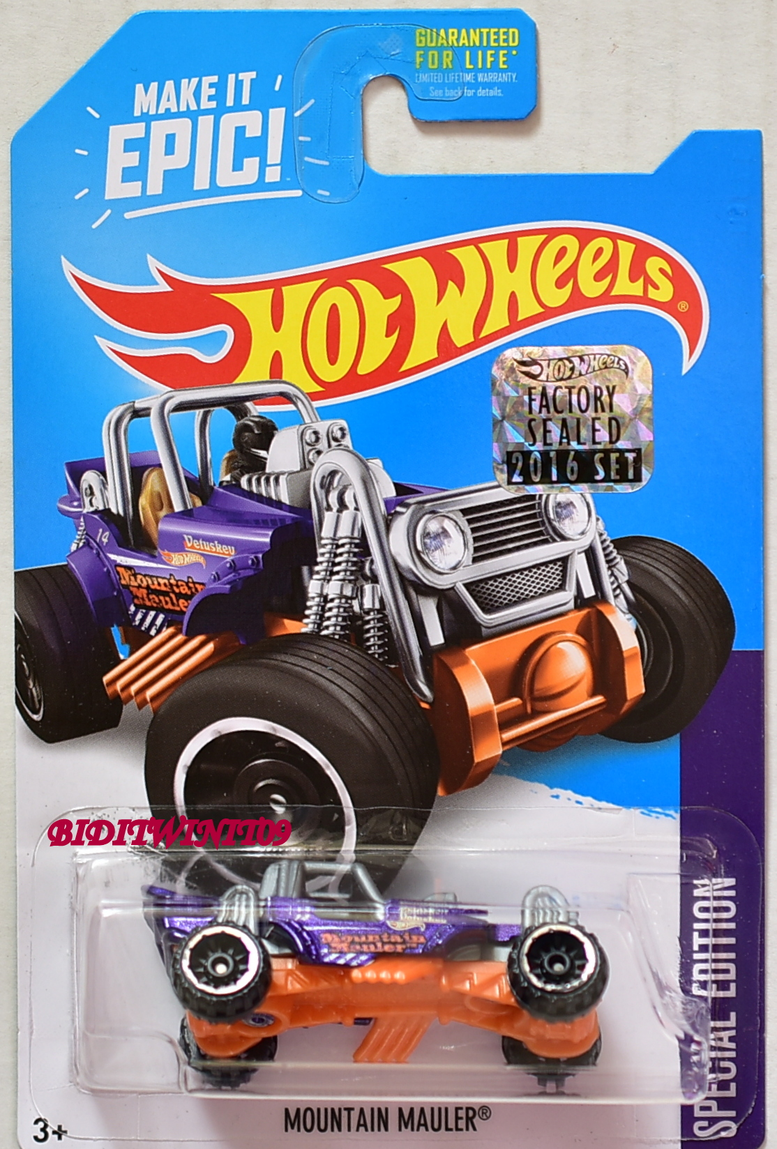 HOT WHEELS 2016 SPECIAL EDITION MOUNTAIN MAULER FACTORY SEALED