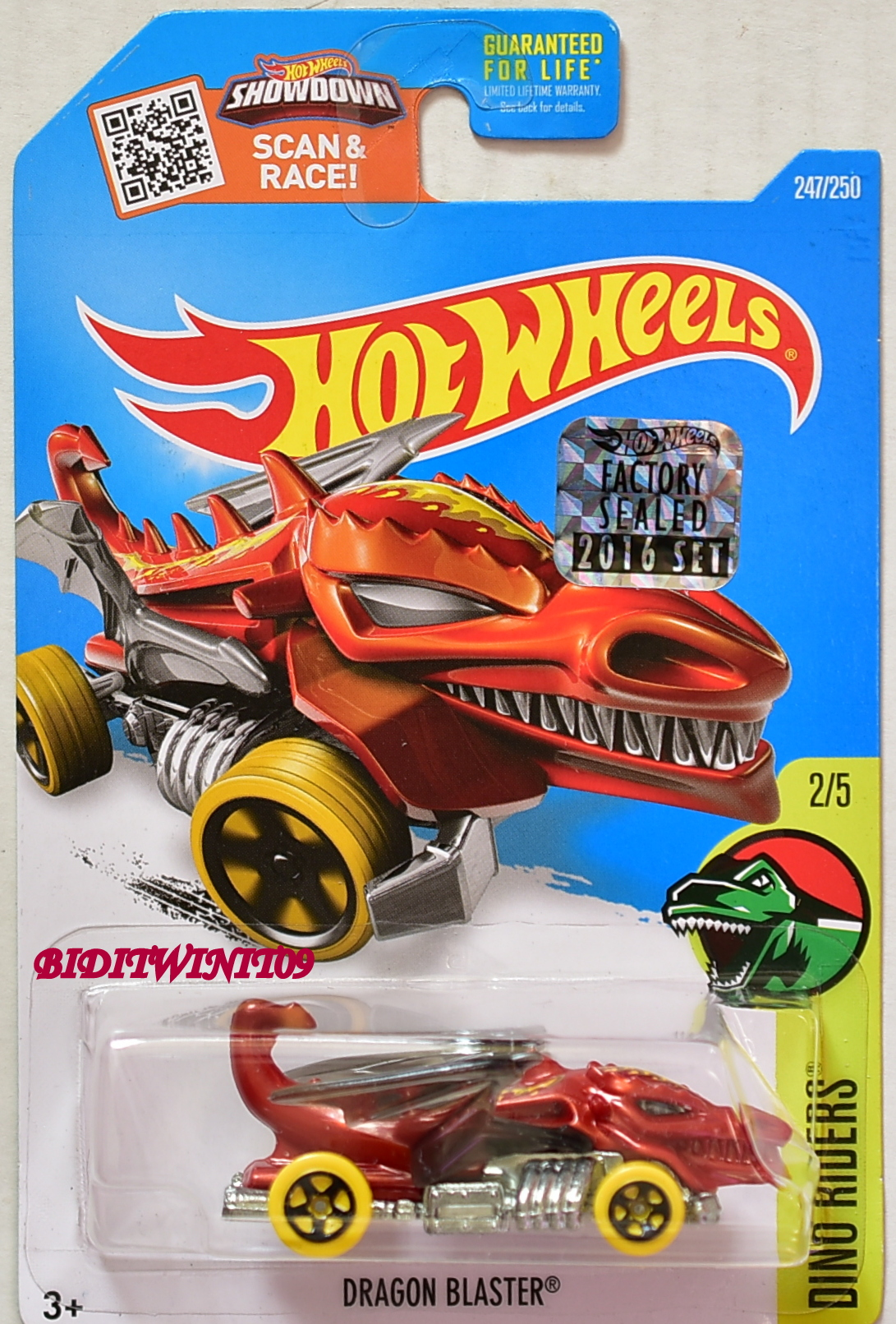 HOT WHEELS 2016 DINO RIDERS DRAGON BLASTER FACTORY SEALED