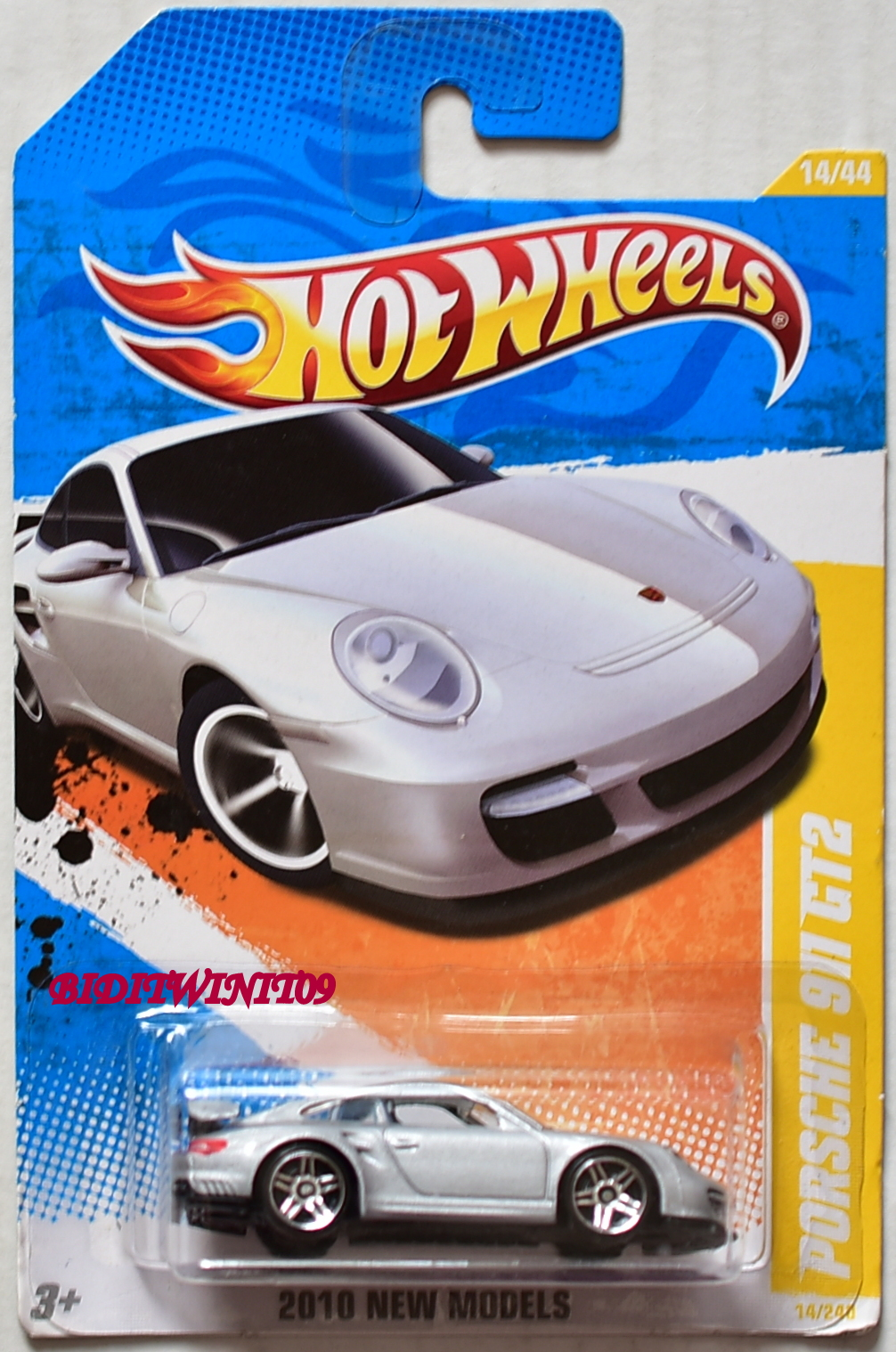 HOT WHEELS 2010 NEW MODELS PORSCHE 911 GT2 #14/44 SILVER