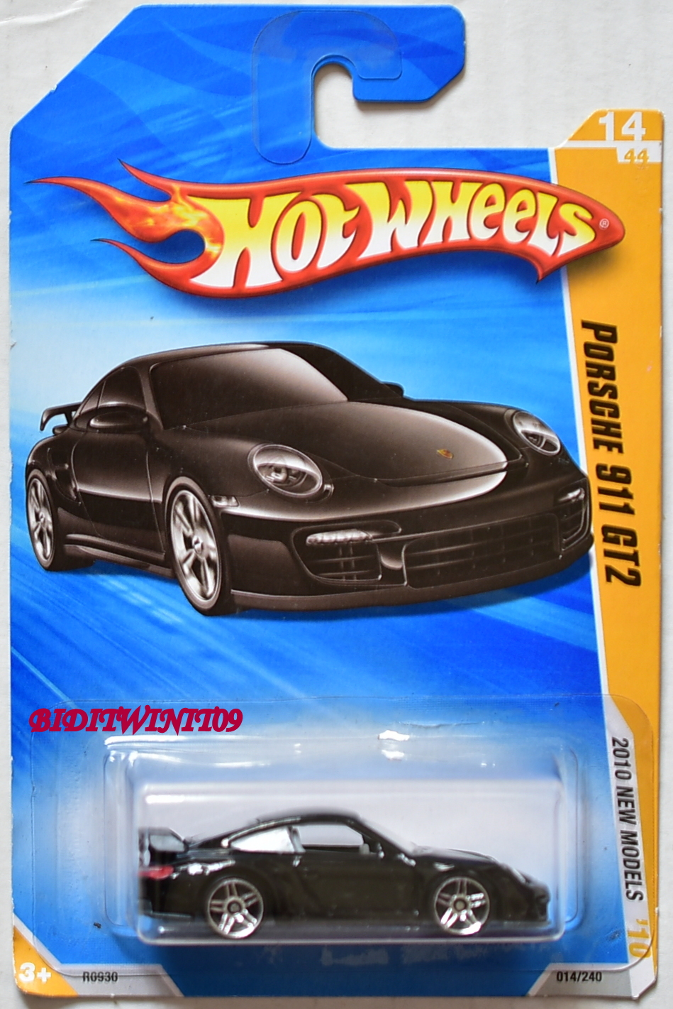 HOT WHEELS 2010 NEW MODELS PORSCHE 911 GT2 #14/44 BLACK
