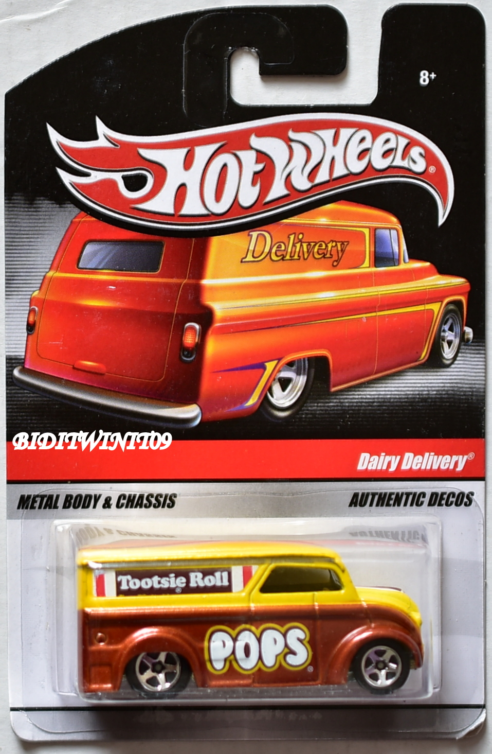 HOT WHEELS DELIVERY DAIRY DELIVERY TOOTSIE ROLL POPS E+