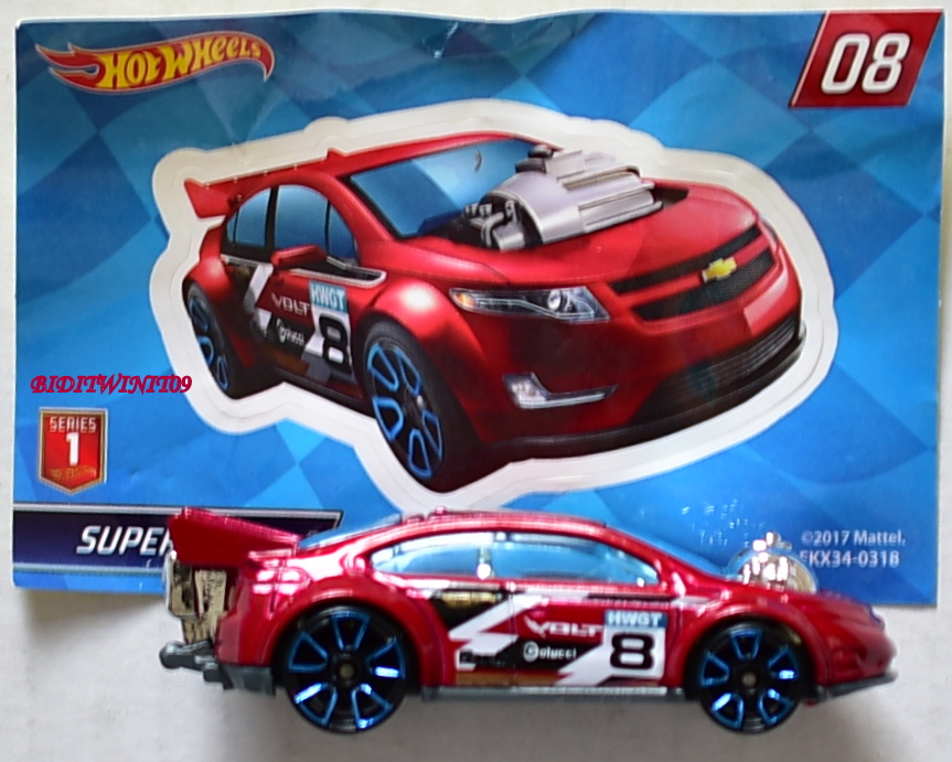 HOT WHEELS 2018 MYSTERY CAR SUPER VOLT #08 RED