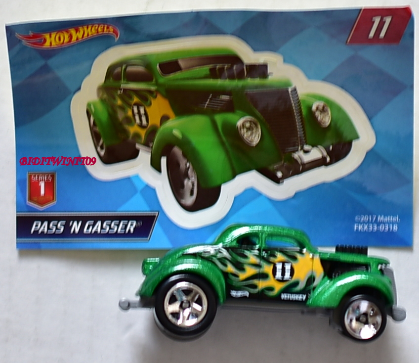 HOT WHEELS 2018 MYSTERY CAR PASS'N GASSER #11 GREEN