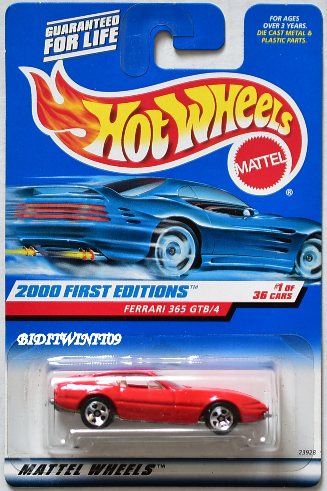 HOT WHEELS 2000 FIRST EDITIONS FERRARI 365 GTB/4 RED W 5 SPK