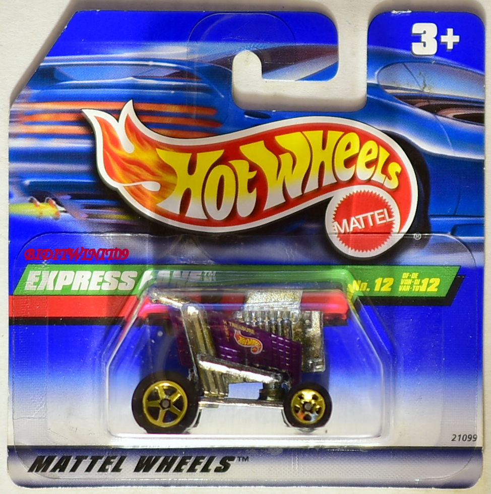 HOT WHEELS 1999 TREASURE HUNT SERIES EXPRESS LANE SHORT CARD E+