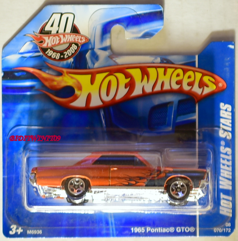 HOT WHEELS 2008 HW STARS 1965 PONTIAC GTO SHORT CARD E+