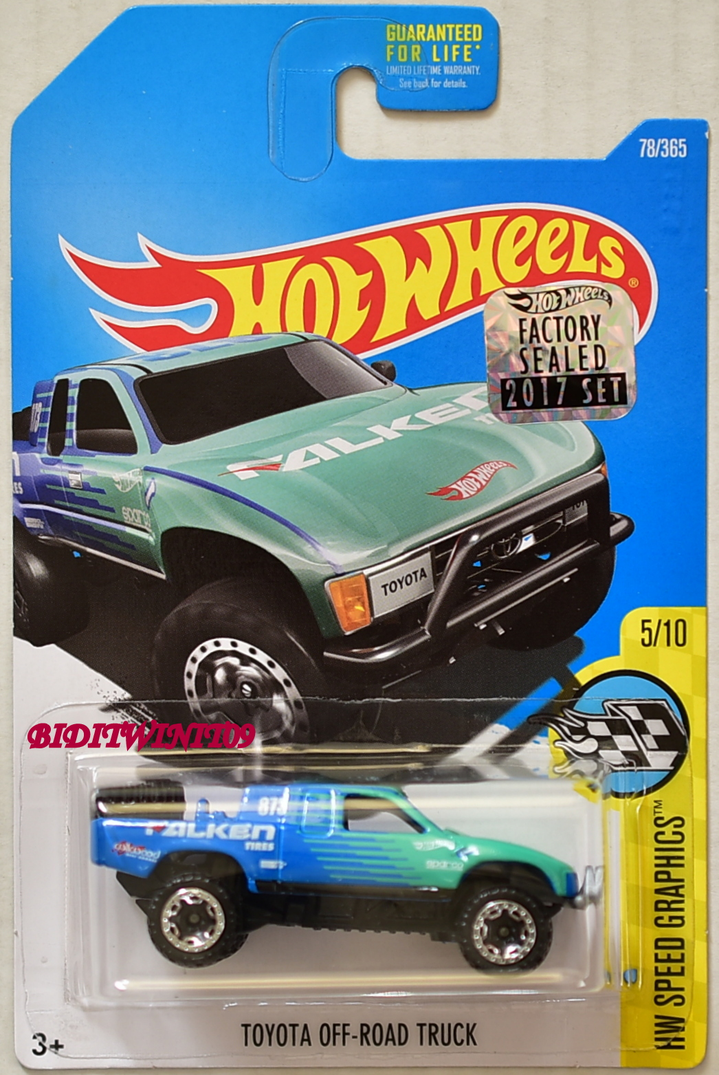 HOT WHEELS 2017 SPEED GRAPHICS TOYOTA OFF-ROAD TRUCK FALKEN FACTORY SEALED