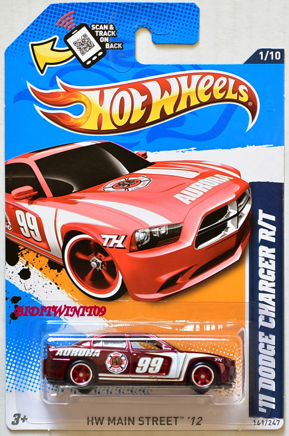 HOT WHEELS 2012 SUPER TREASURE HUNTS '11 DODGE CHARGER R/T