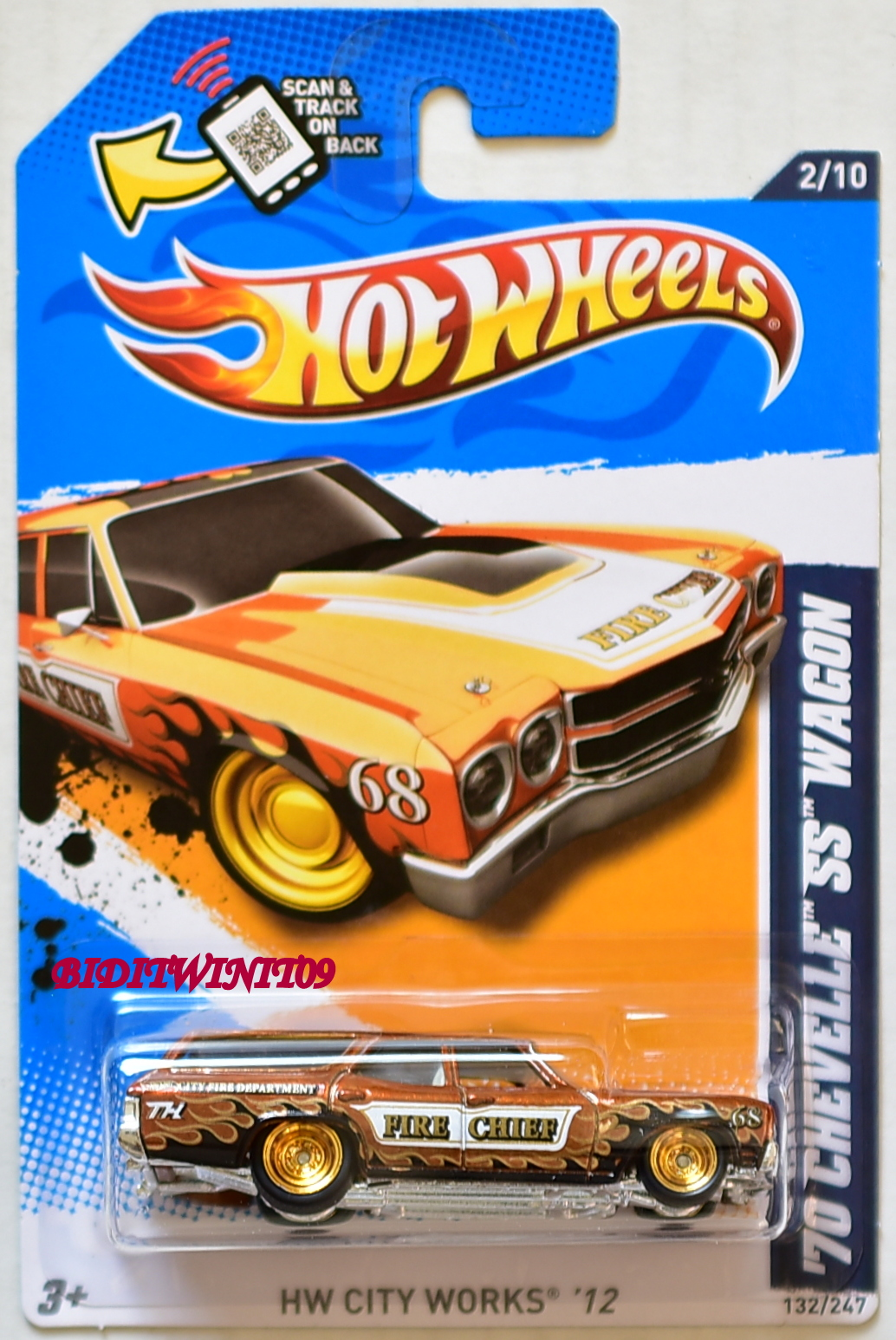 HOT WHEELS 2012 SUPER TREASURE HUNTS '70 CHEVELLE SS WAGON