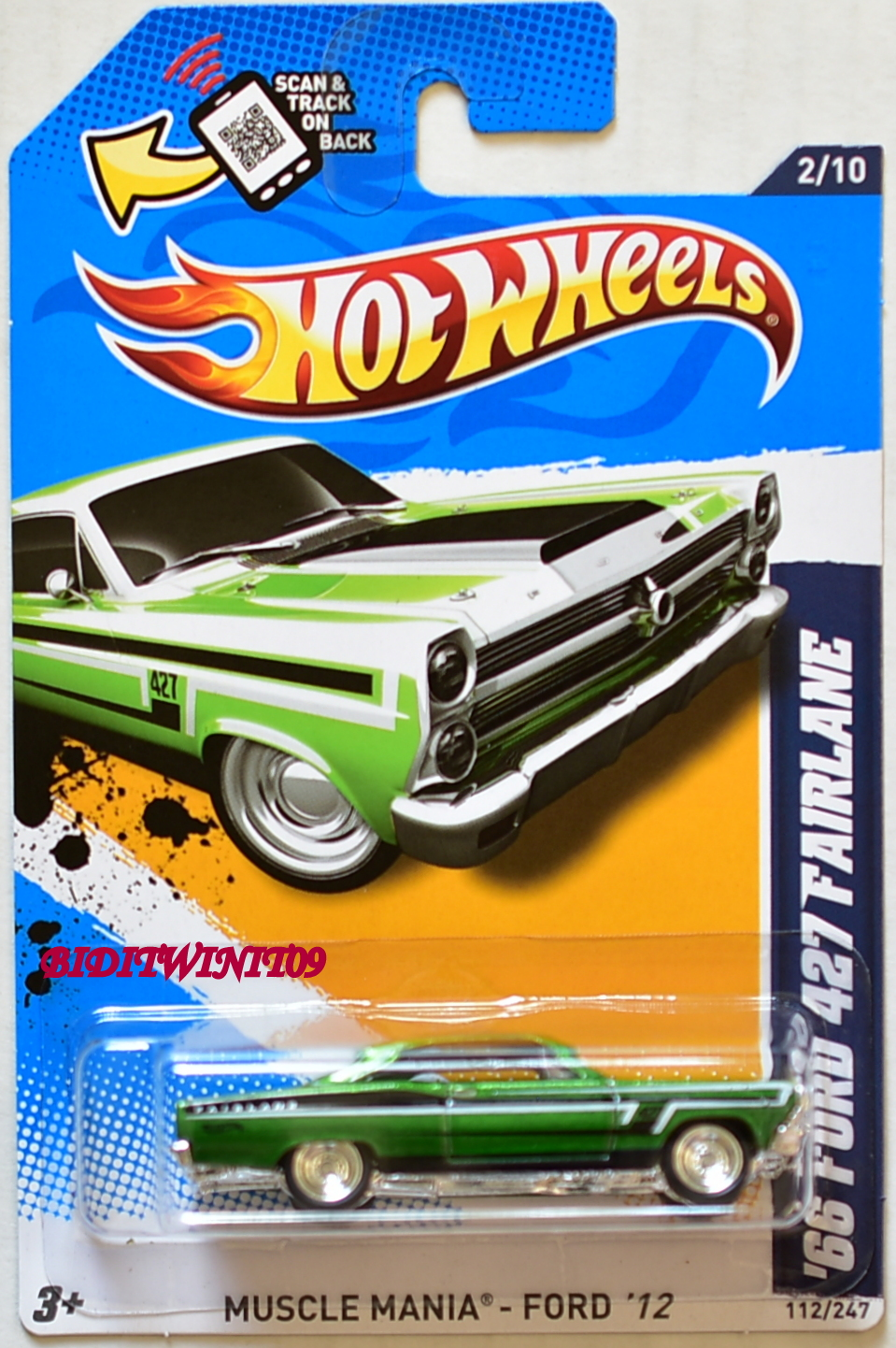 HOT WHEELS 2012 SUPER TREASURE HUNTS '66 FORD 427 FAIRLANE