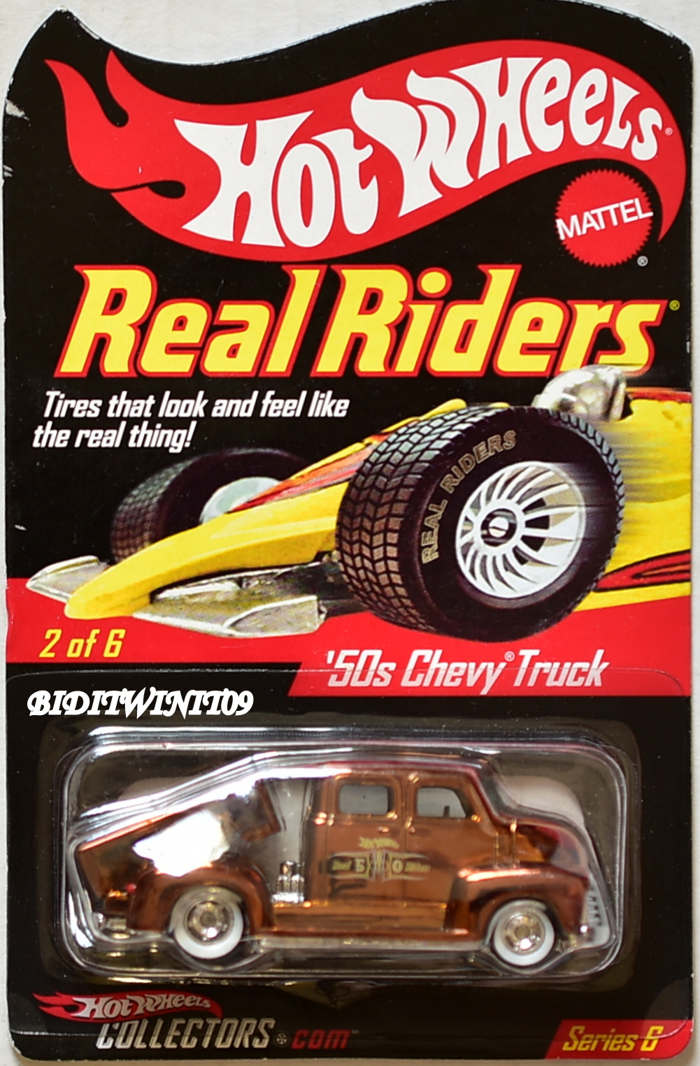 HOT WHEELS RLC REAL RIDER SERIES 6 '50S CHEVY TRUCK