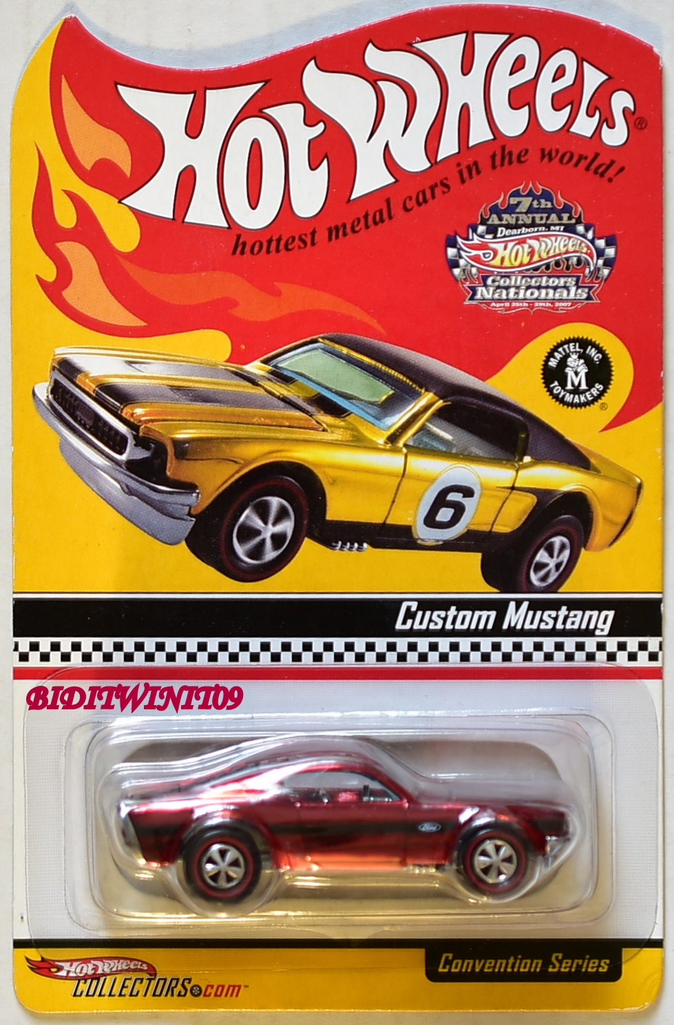 HOT WHEELS 2007 7th ANNUAL COLLECTORS NATIONALS CONVENTION CUSTOM MUSTANG E+