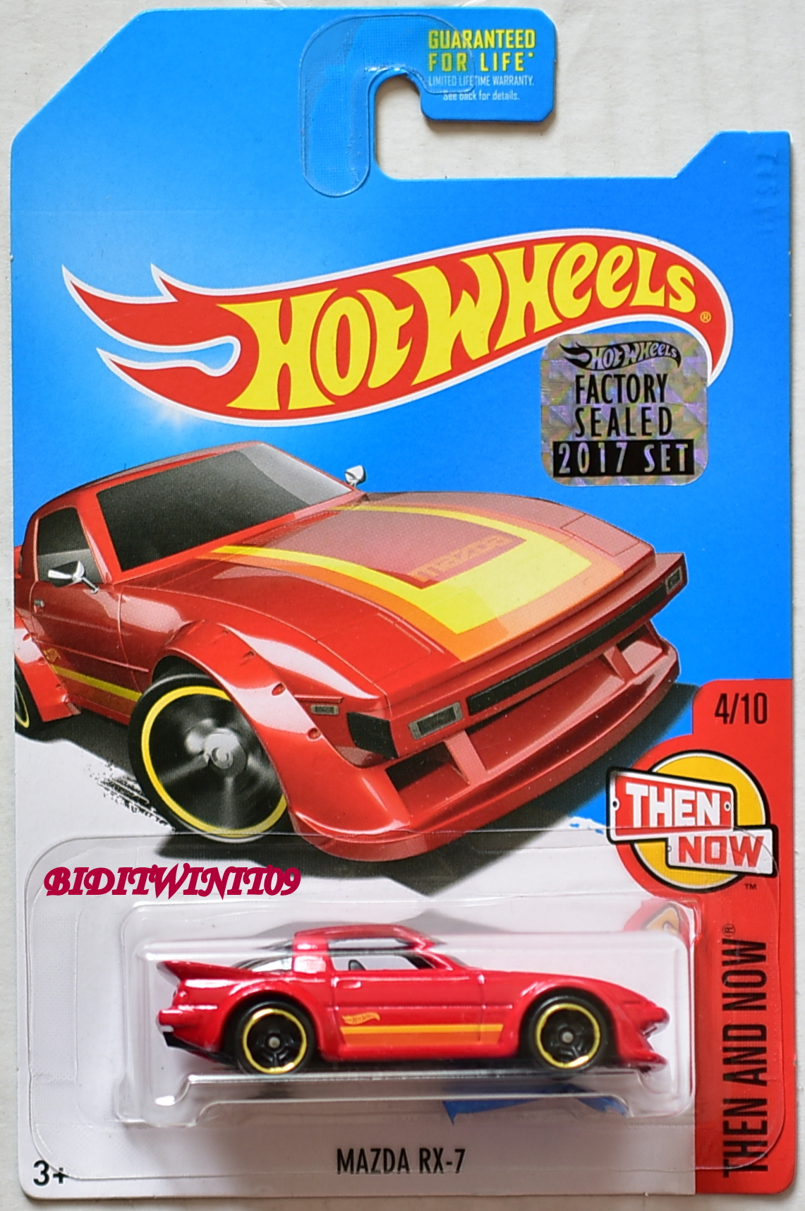 HOT WHEELS 2017 THEN AND NOW MAZDA RX-7 #4/10 KMART RED FACTORY SEALED E+