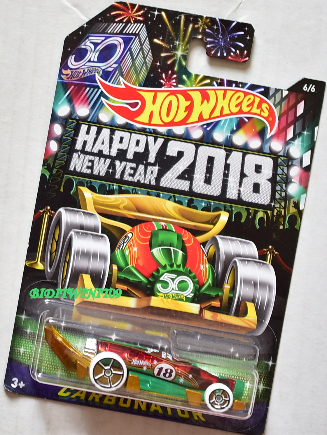 HOT WHEELS HAPPY NEW YEAR 2018 50 YEARS CARBONATOR