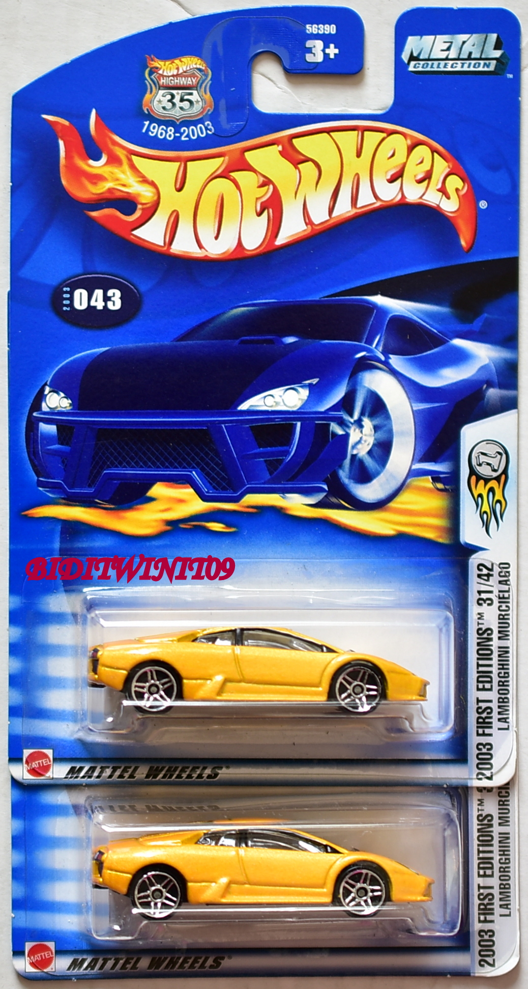 Hot Wheels 2003 First Editions Lamborghini Murcielago Color