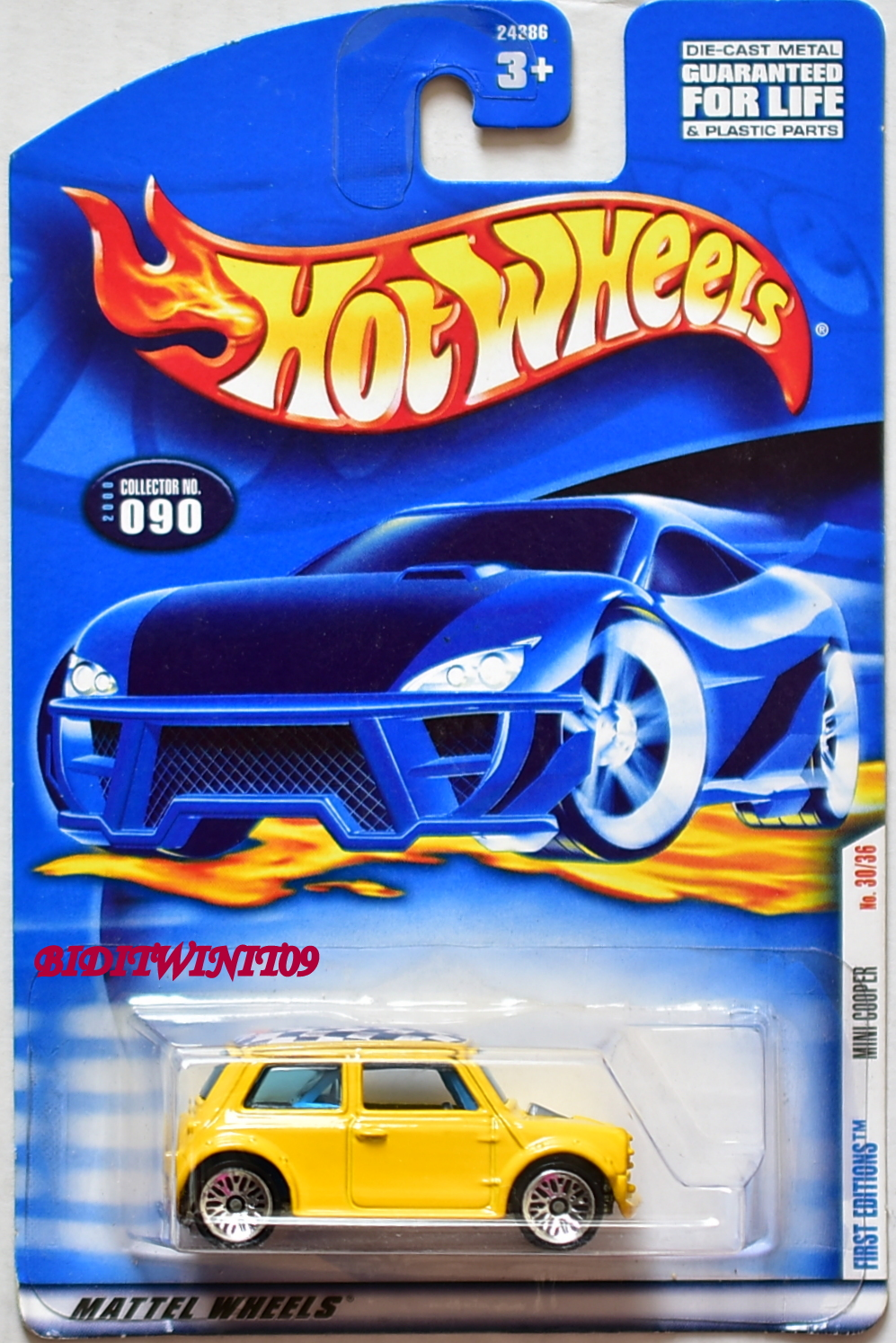 HOT WHEELS 2000 FIRST EDITIONS MINI COOPER #090 YELLOW