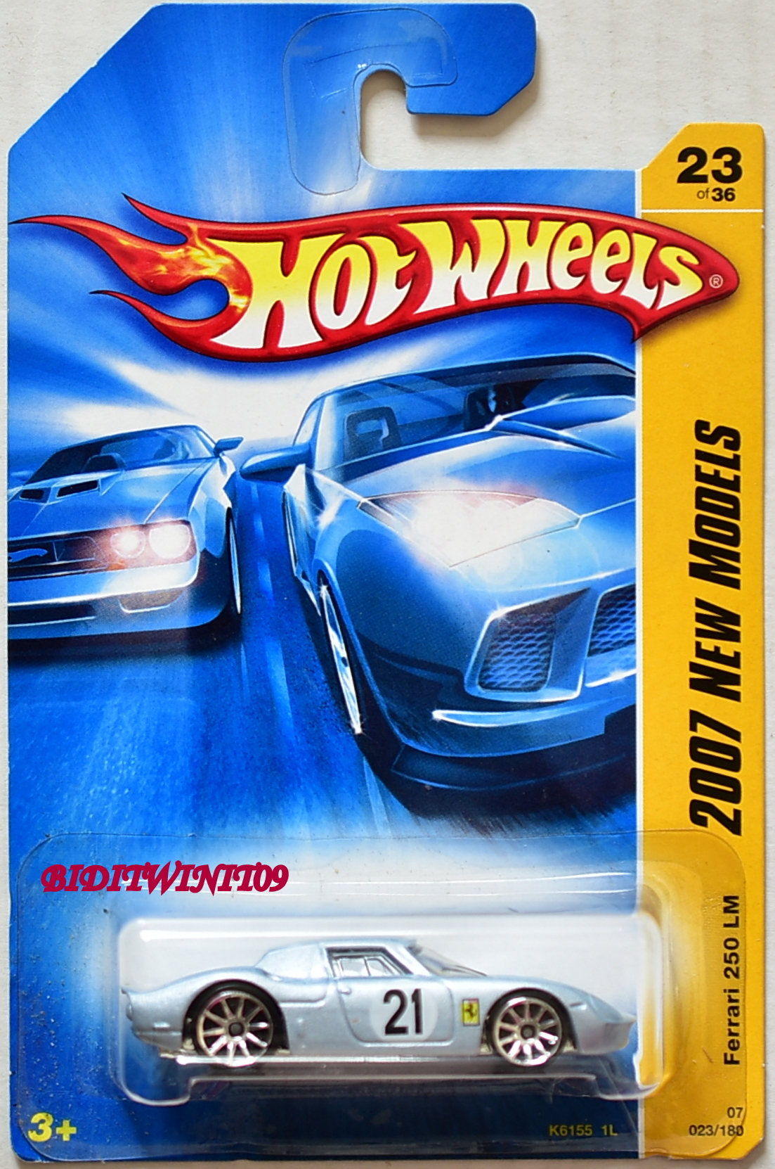 HOT WHEELS 2007 NEW MODELS FERRARI 250 LM LIGHT BLUE