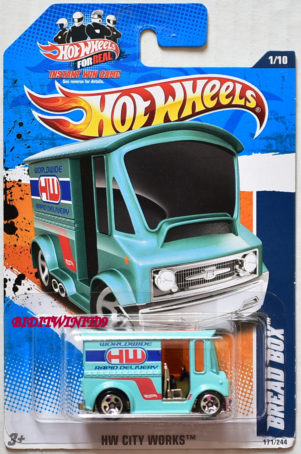HOT WHEELS 2011 HW CITY WORKS BREAD BOX #1/10 E+